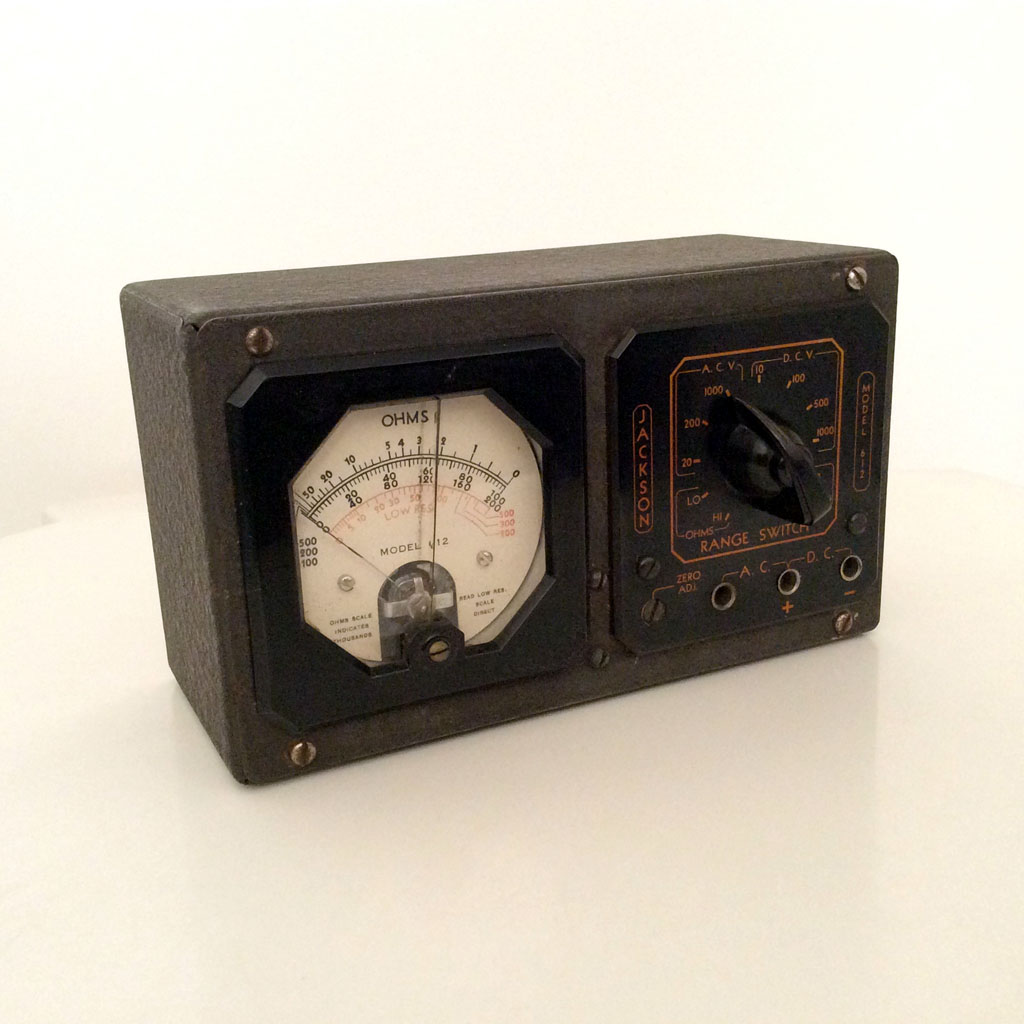 <b>Jackson 612</b> : Figure 101 : Vintage Analog Multimeter :