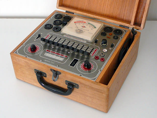 <b>Superior Tube Tester TV-11</b> (1964) : Figure 50 : This is an emission type of tube tester, which some feel is inferior to the transconductance type of testers. However, if you are just trying to see if a tube is good or bad, then this one works for me. :