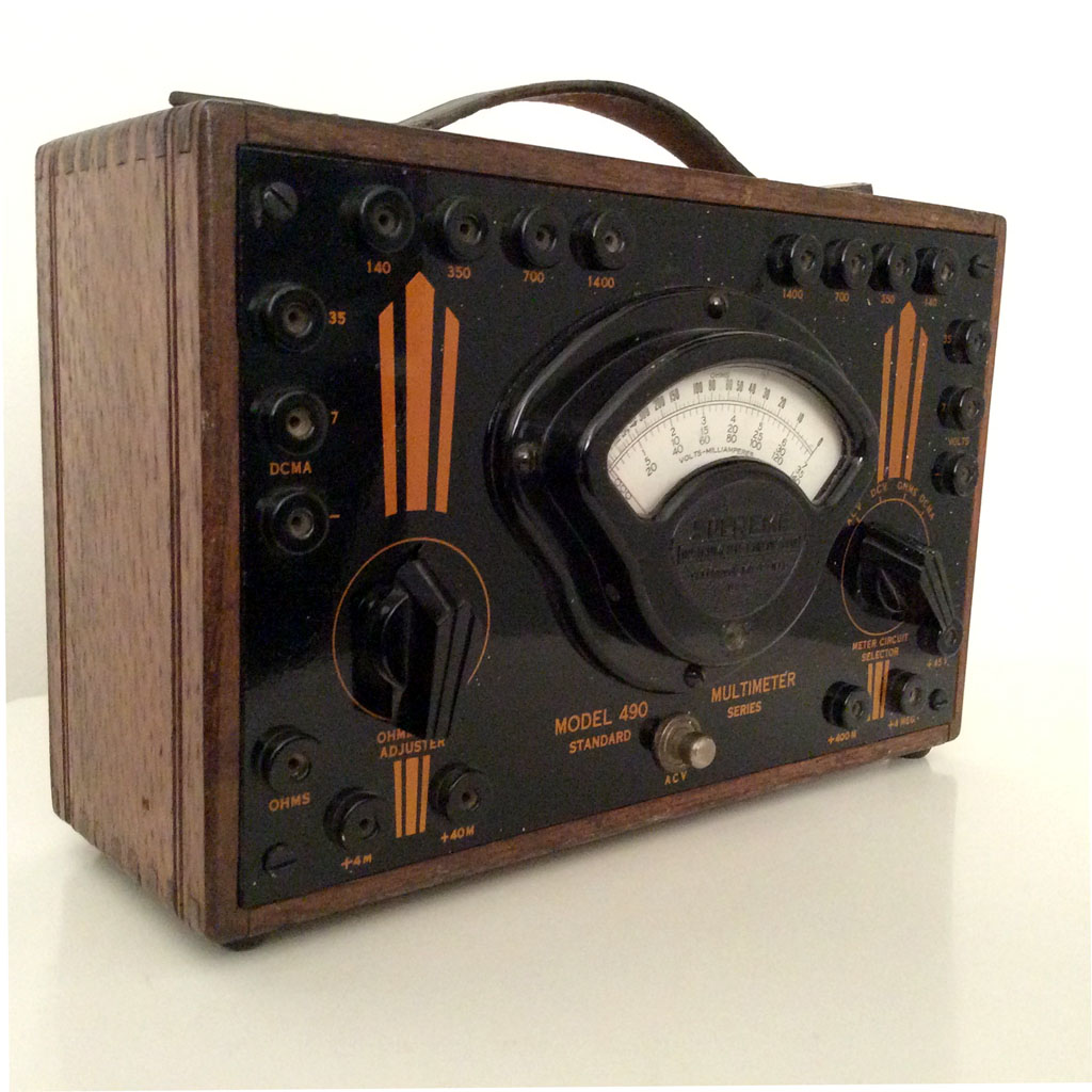 <b>Supreme Instruments Corporation 490</b> : Figure 102 : Vintage Analog Multimeter :