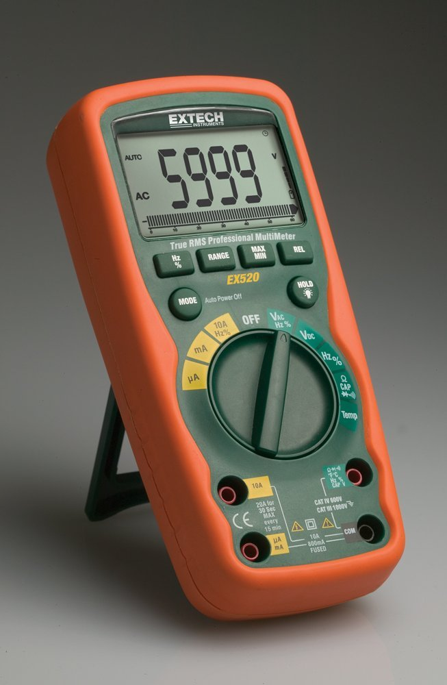 <b>Extech EX520</b> (2014) : Figure 94 : Extech True RMS Digital Multimeter. My pride and joy of owning a decent meter. :