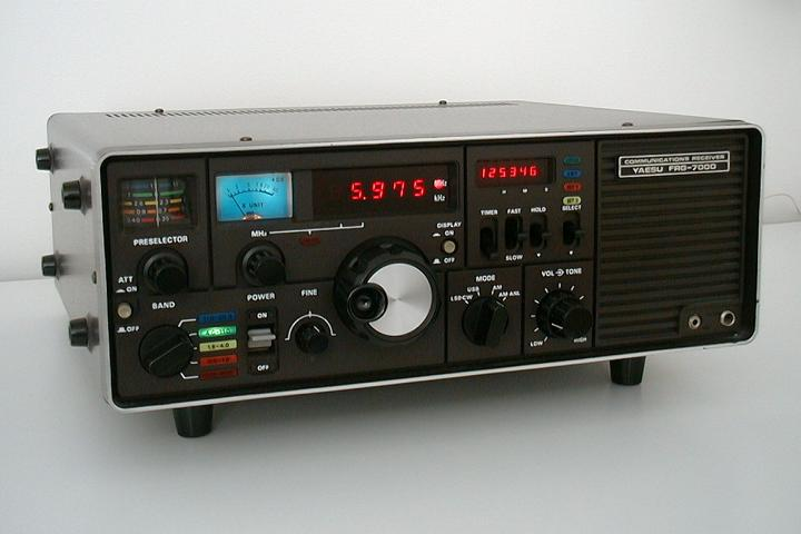 <b>Yaesu Musen Co. Ltd. FRG-7000</b> (1980) : Figure 5 : Similar my other  receiver covering 250kHz-29.999MHz. Though this one is modified with narrow AM filters and a different front end RF  transistor. Will change the lamps to LED. (black controls) :