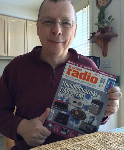 Figure 23 : Ralph with Swiat Radio Magazine.