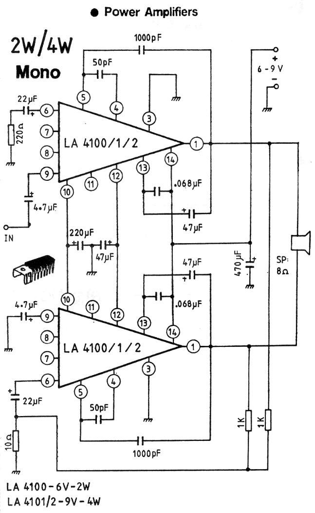 2-4W Mono Amplifier