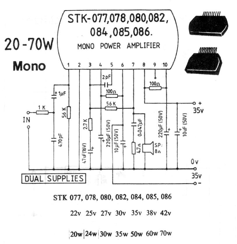 20-70W Mono Power Amplifier