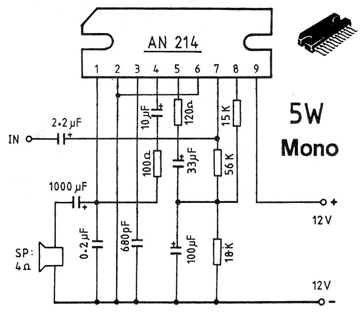 5W Mono Car Amplifier