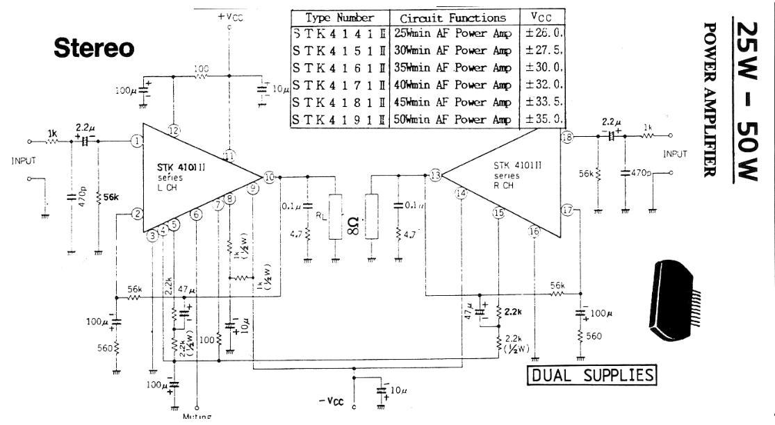 25-50 W Stereo Power Amplifier