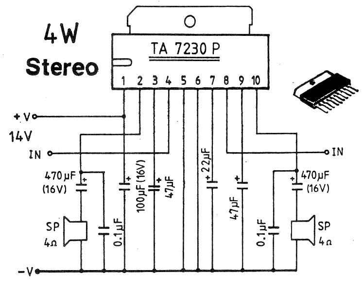 4W Stereo Car Amplifier