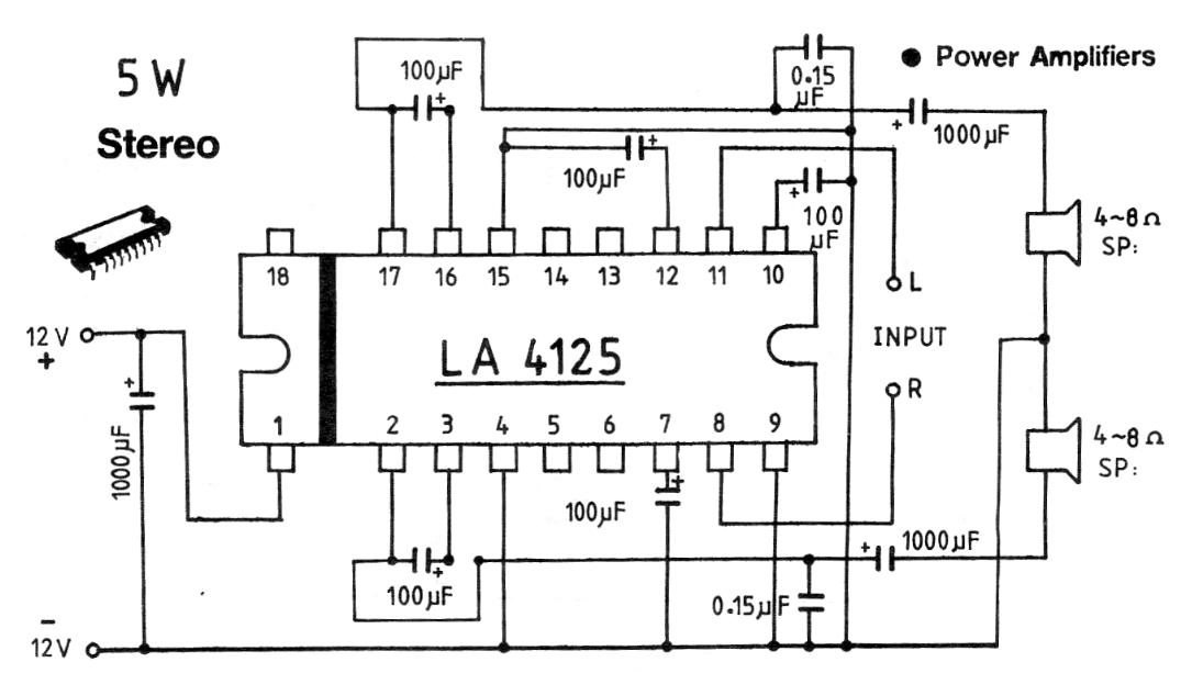 5 W Stereo IC Amplifier