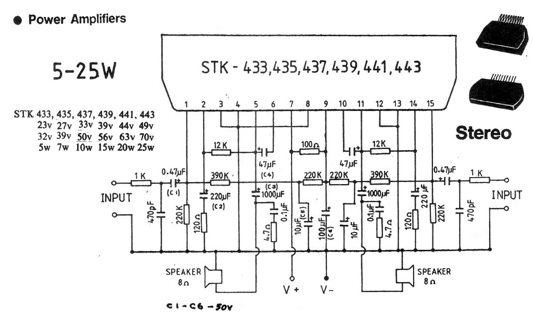 5-25W Stereo Power Amplifier