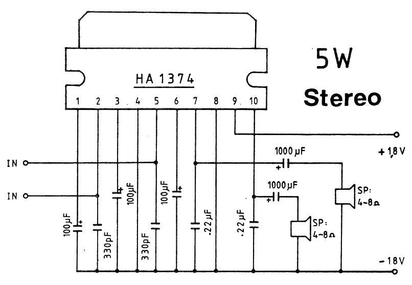 5W Stereo Amplifier