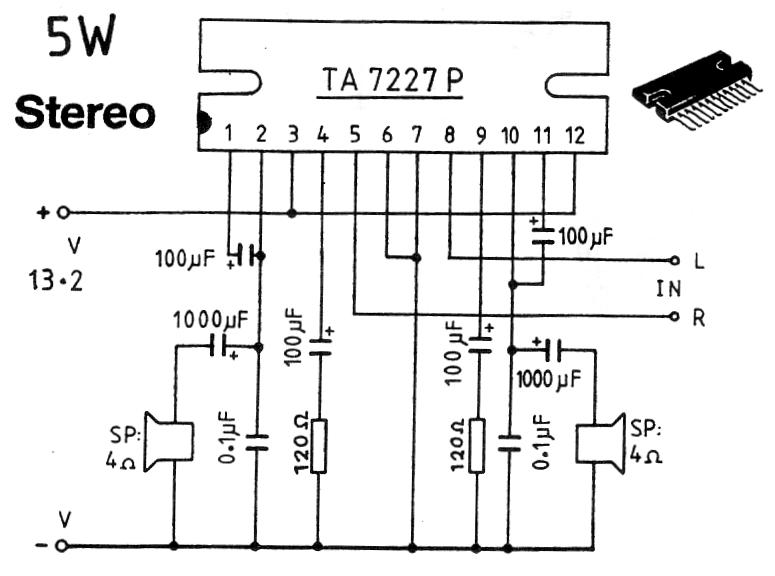 5W Stereo Power Amplifier