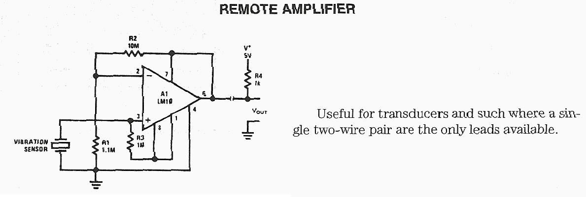 Vibration Sensor Amplifier