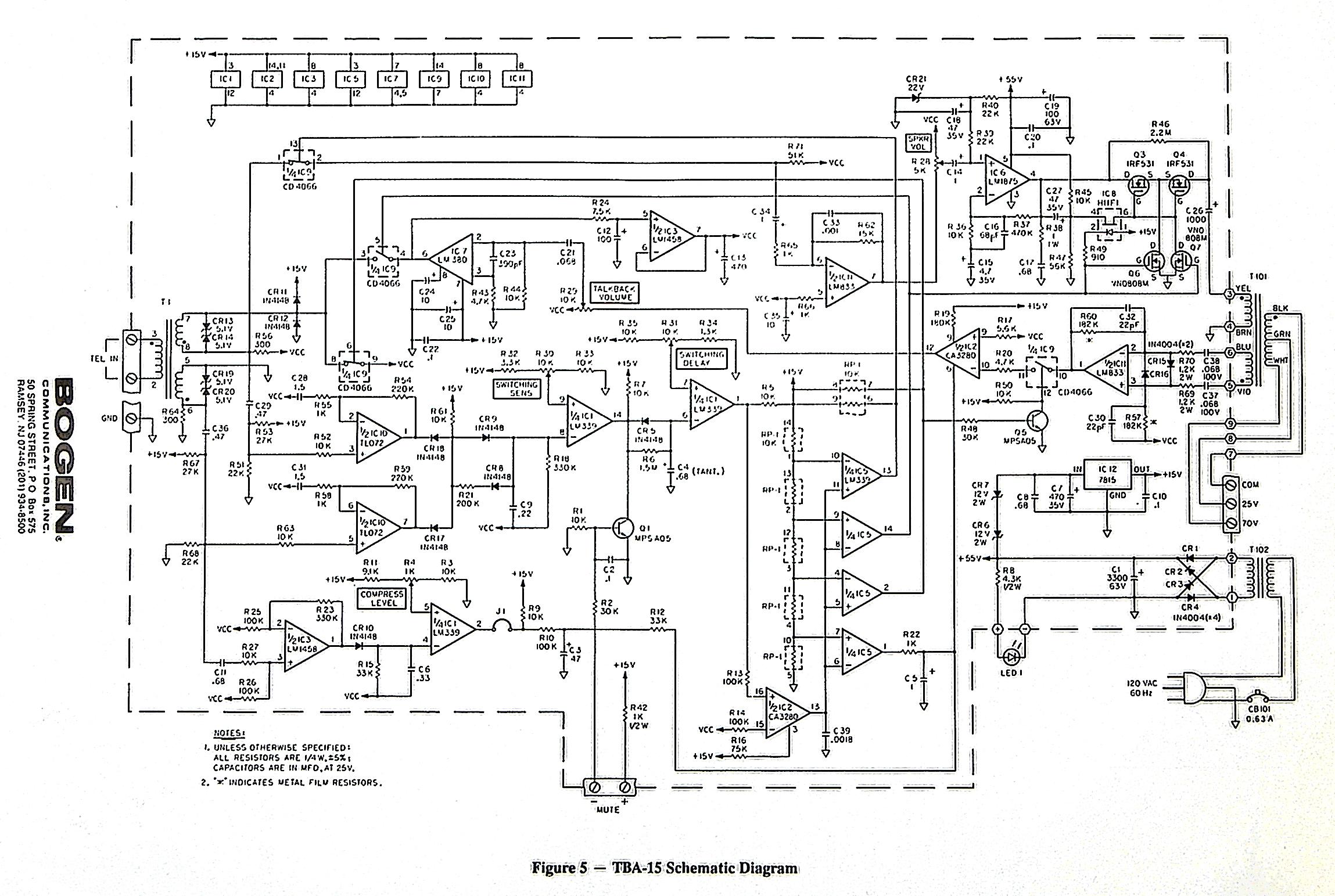 Bogen TBA-15 Amplifer