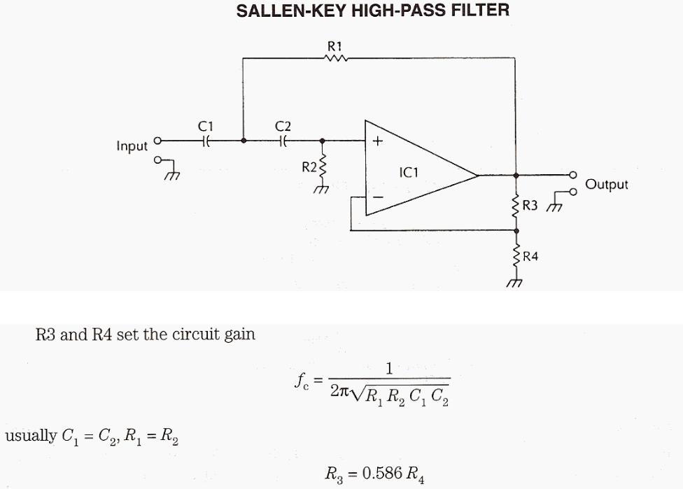 Sallen-KEY High-pass Filter