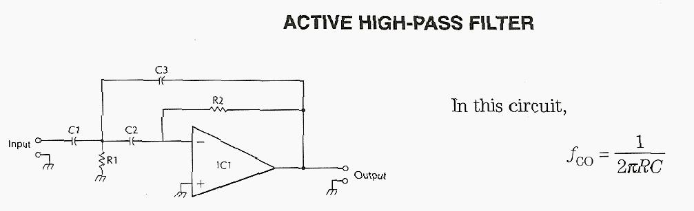 Active High-pass Filter