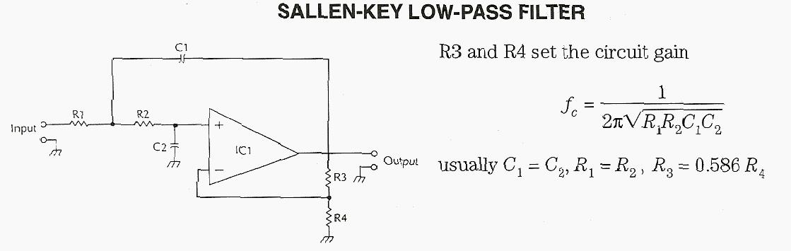 Sallen KEY Low-pass Filter