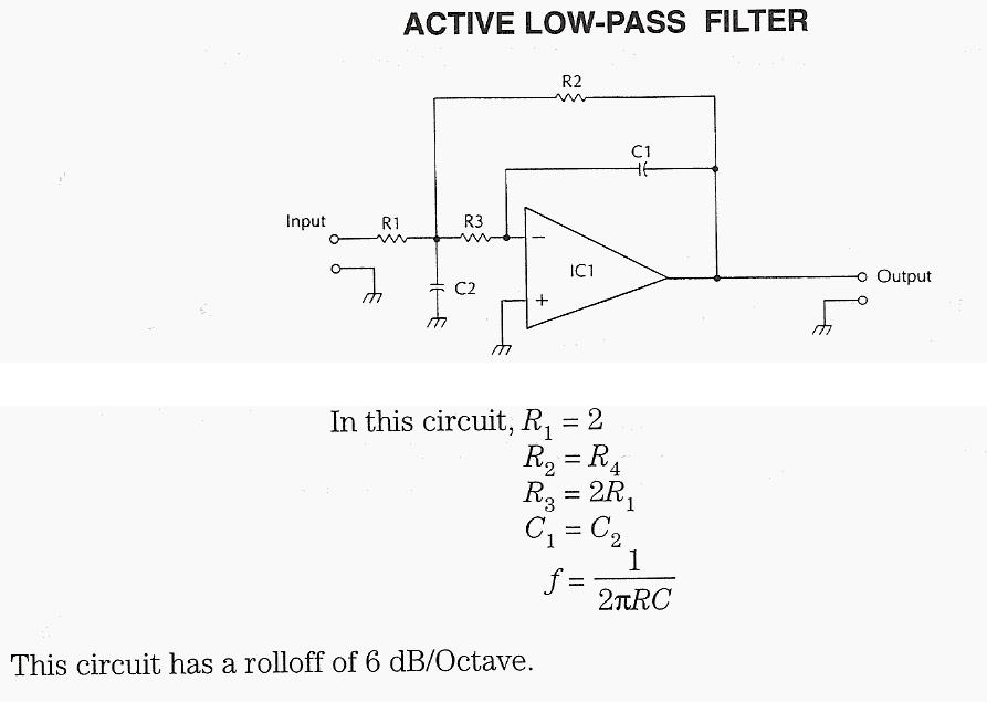 Active Low-pass Filter