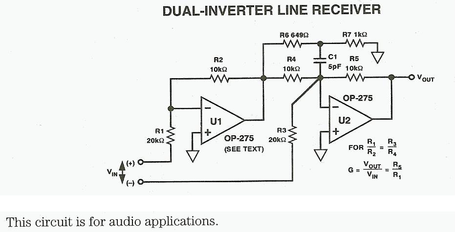 Dual-Inverter Line Receiver