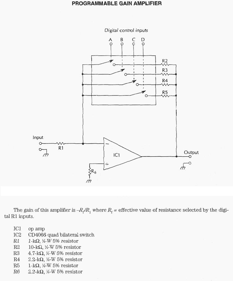 Programmable Gain Amplifier