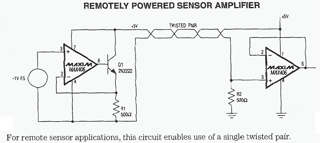 Remotely Powered Sensor Amplifier
