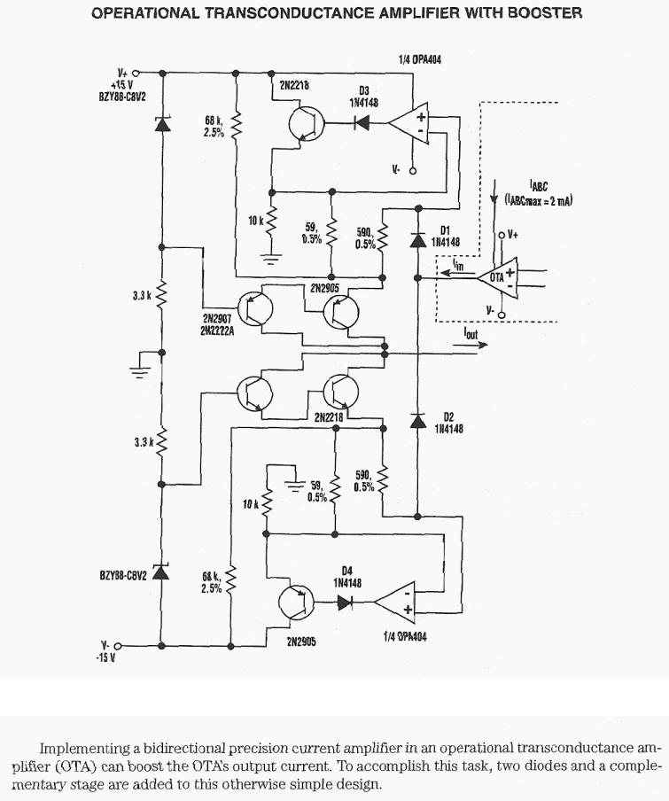 Operational Transconductance Amplifier With Booster