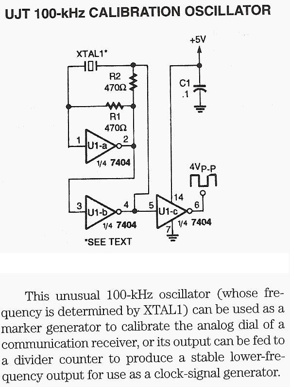 Oscillator UJT 100kHz Calibration