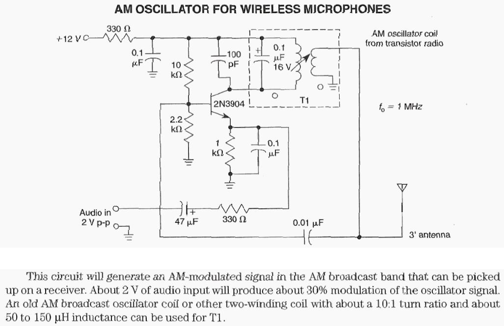 AM Oscillator Wireless Microphone
