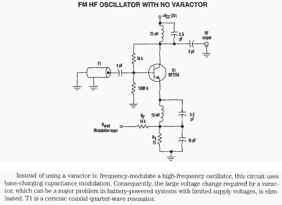 FM HF Oscillator With NO Varactor