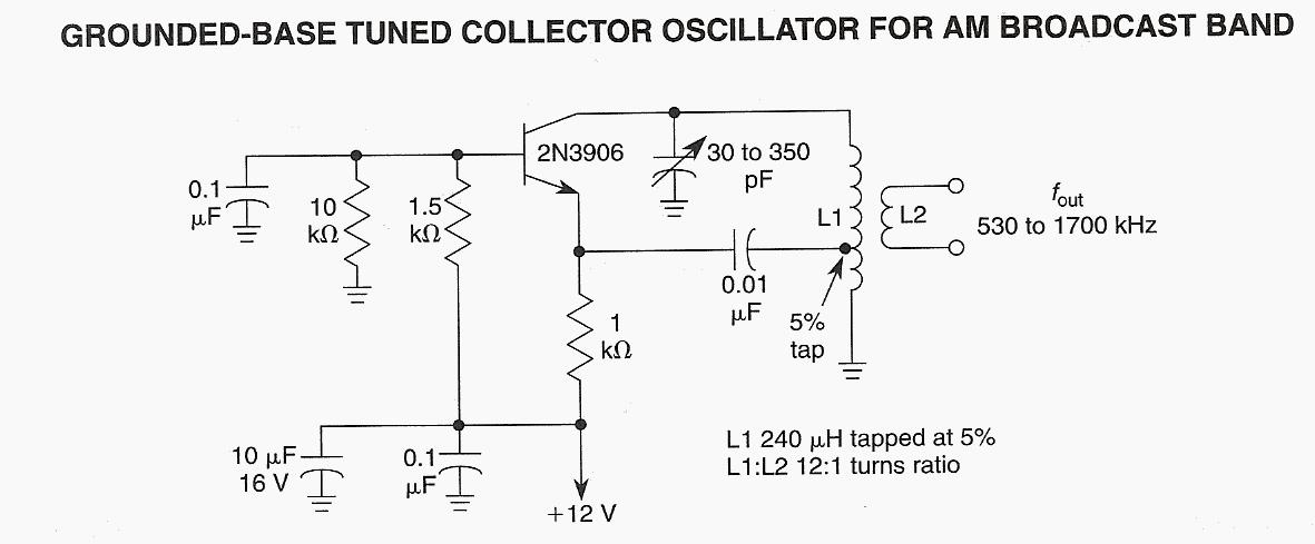 Grounded Base Tuned Collector Oscillator