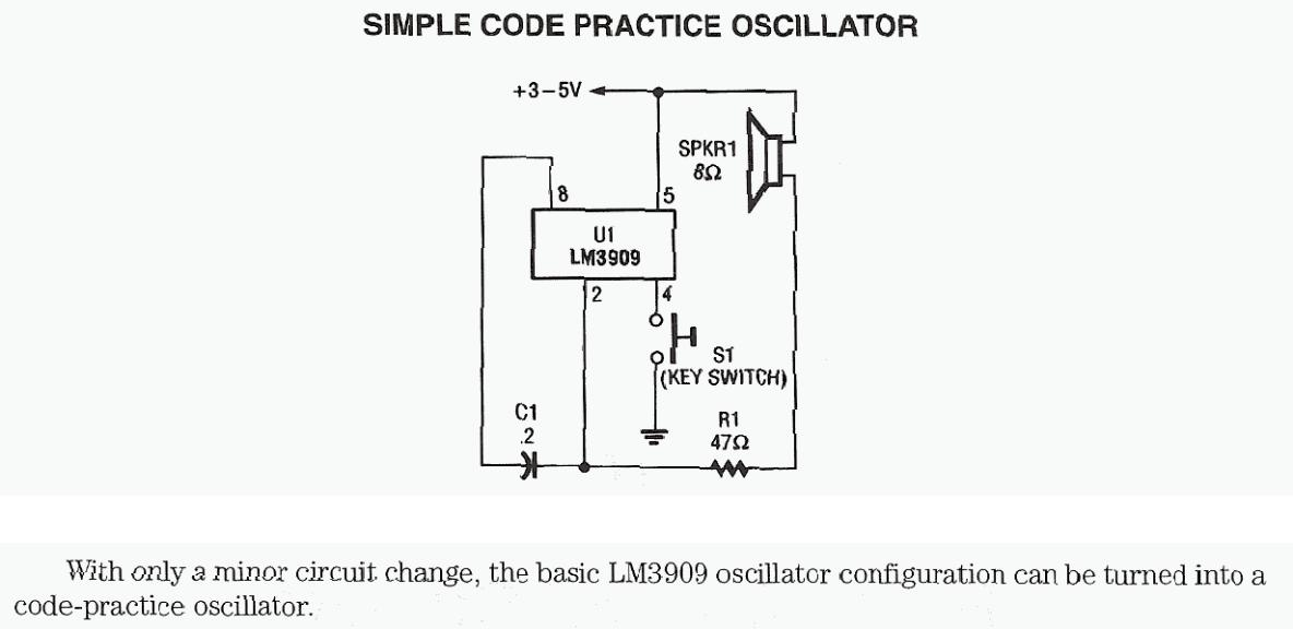 Simple Code Practice Oscillator