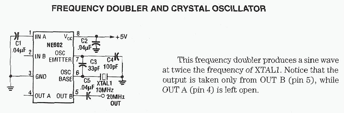 Frequency Doubler and Crystal Oscillator