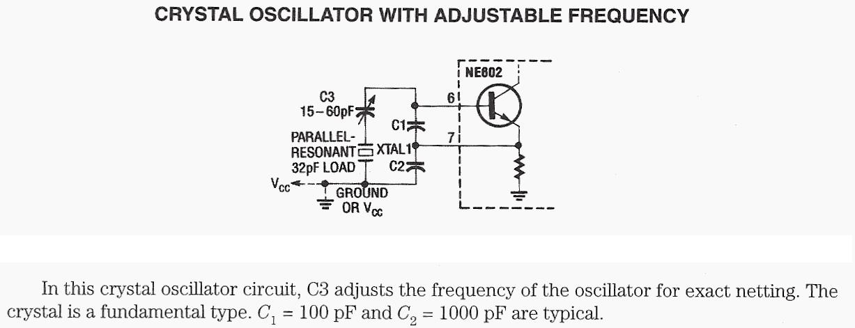 Crystal Oscillator With Adjustable Frequency