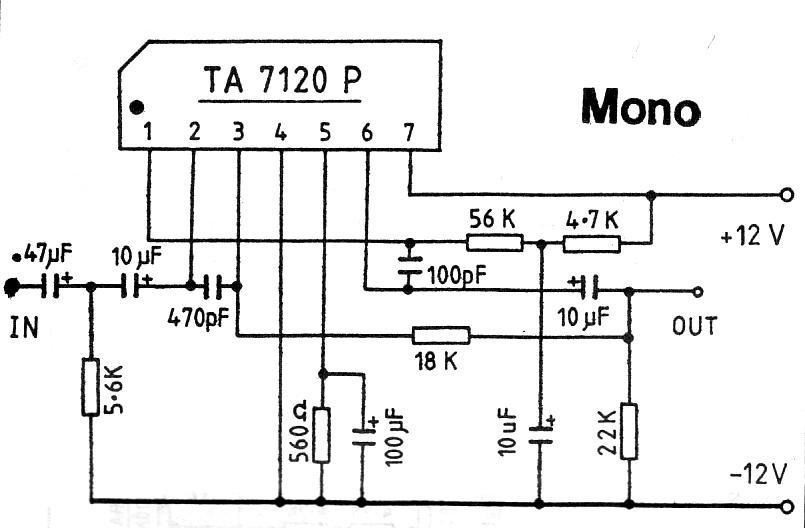 Mono Preamplifier
