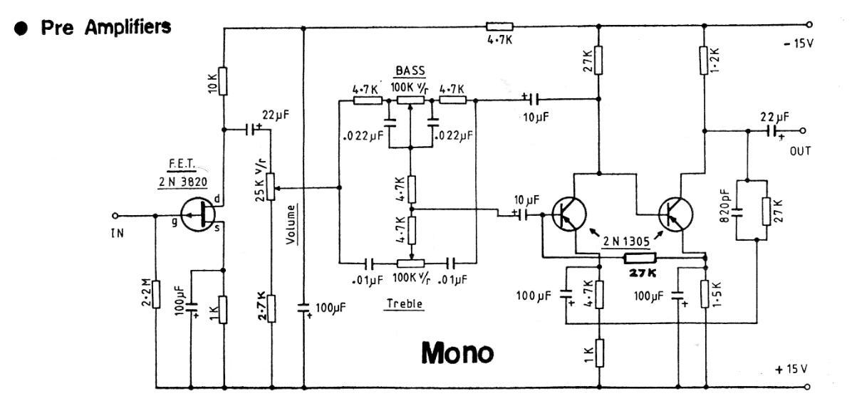Mono 15V Preamplifier
