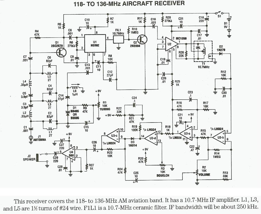 118 to 136 MHz Aircraft Receiver