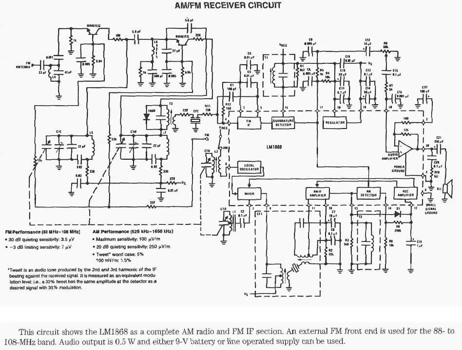 AM-FM Receiver Circuit