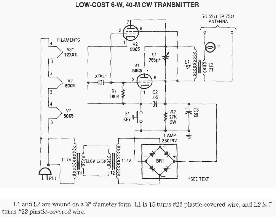 Low Cost 6W 40M CW Transmitter