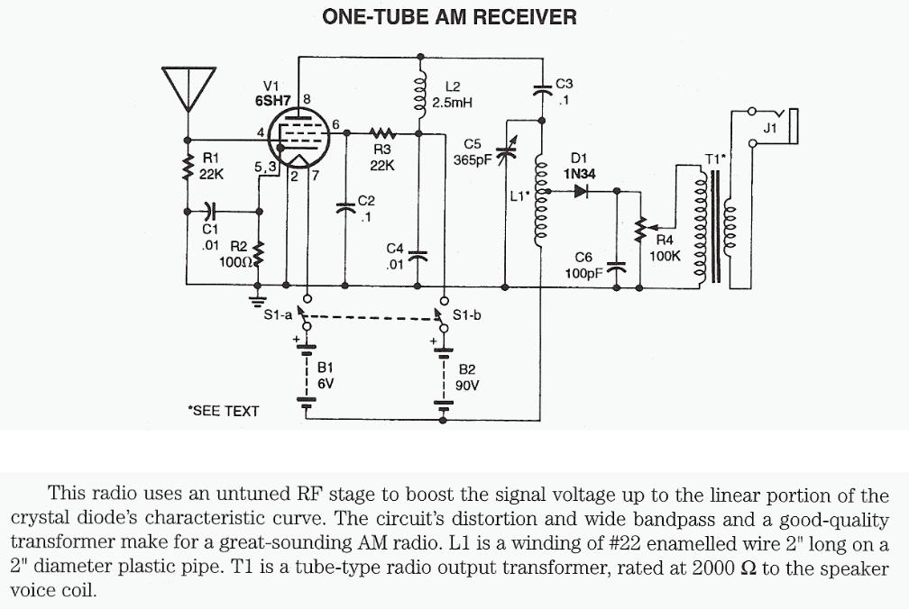 One-Tube AM Receiver