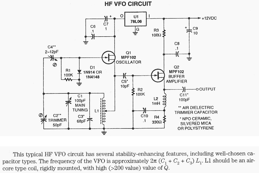 HF VFO Circuit