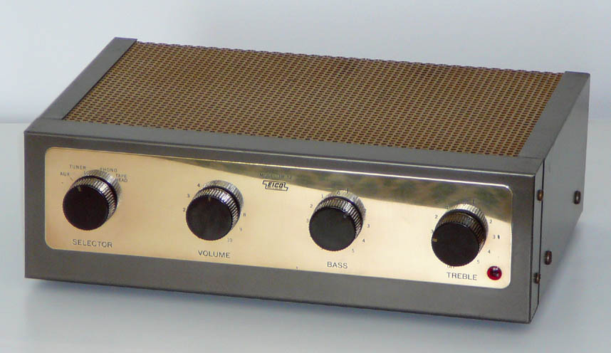 <b>Eico HF-12</b> (1967) : Figure 45 : High Fidelity 12-watt integrated Monaural tube amplifier. :