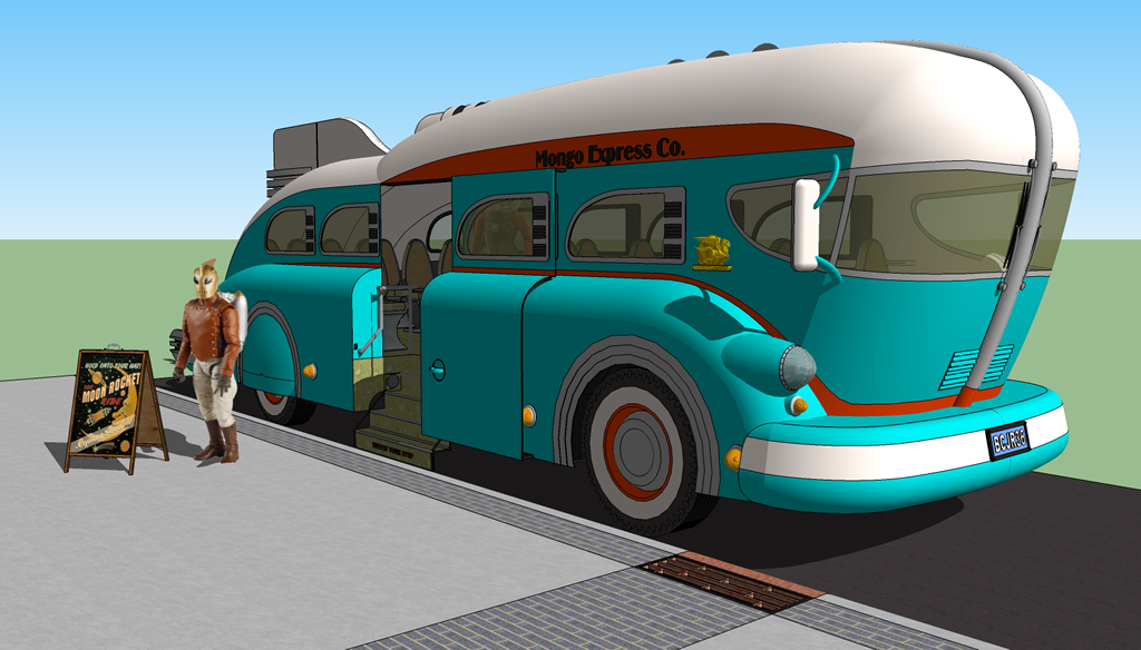 <b>Sketchup 8 MODEL 5</b> (2020) : Figure 120 : 1936 GM Concept Bus :