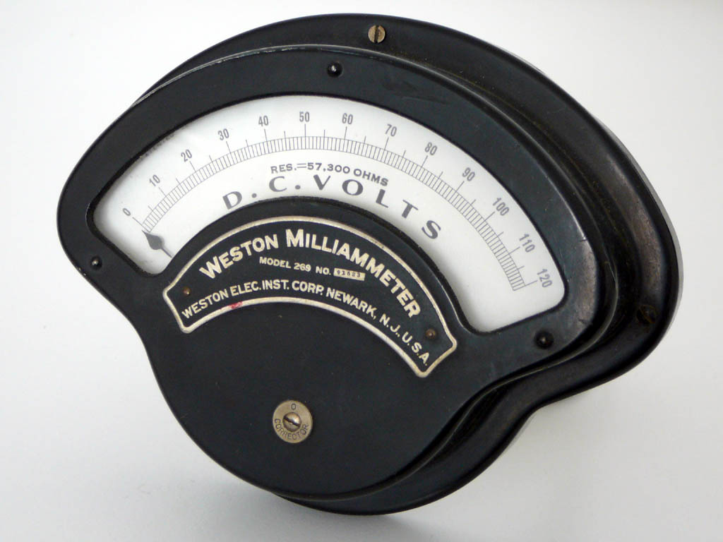 <b>Weston Elec. Inst. Corp. 269</b> : Figure 103 : Vintage Panel Meter :