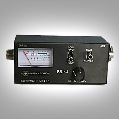 <b>Monacor FSI-4</b> : Figure 41 : SWR, Power, Field Strength Meter. Maximum RF power of 100W. Frequency range of 1.5 - 150MHz. :